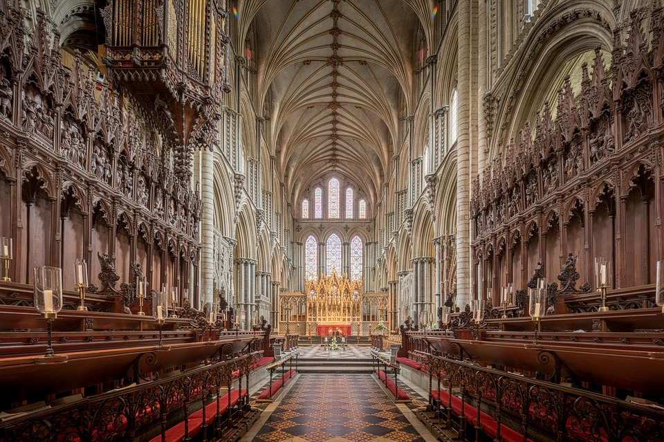 Ely Cathedral, where Queen's Coronation in The Crown was filmed.