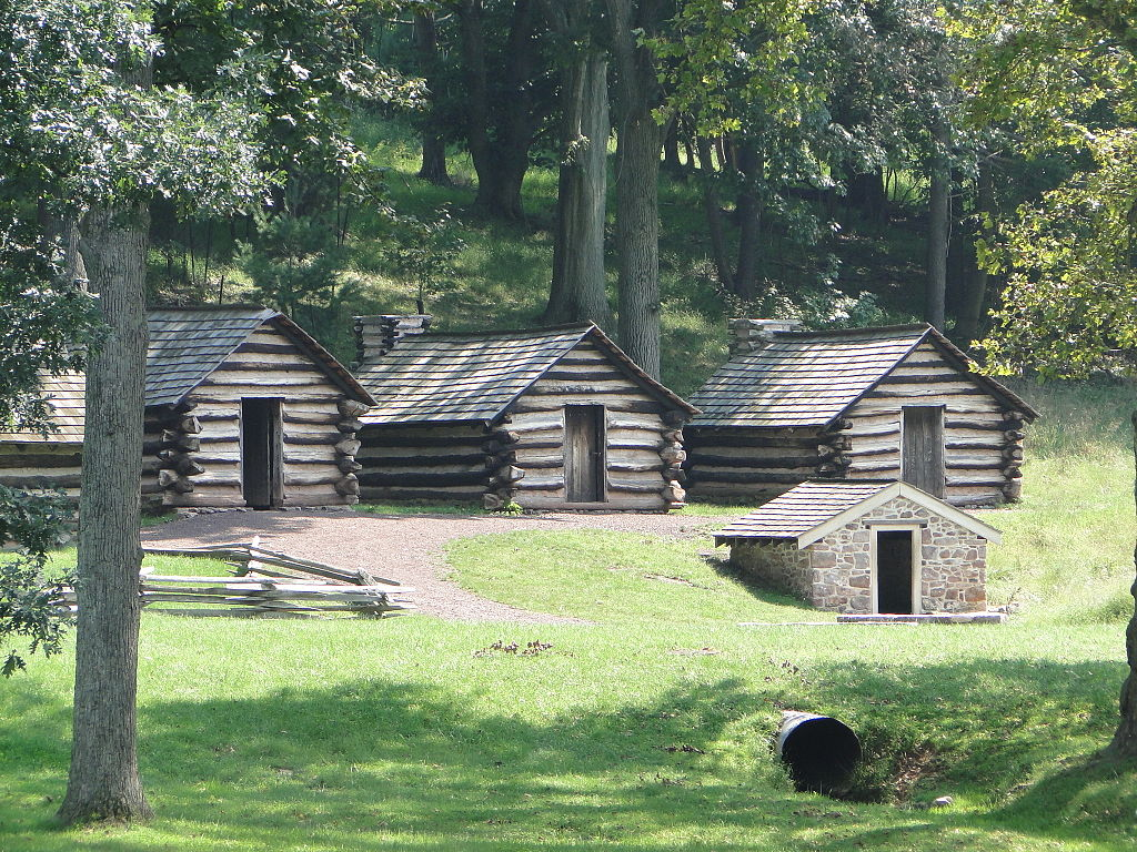 Log cabins at Valley Forge Historic Park