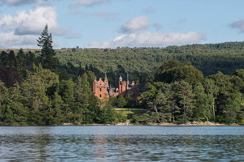 Aldourie Castle on the shores of Lochness